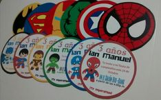 Invitaciones doble cara #superheroes