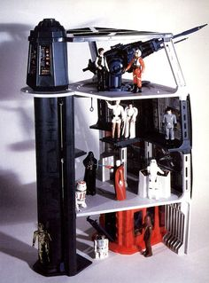 "The Death Star playset (with action figures*) from the original ""Star Wars"" line of toys. *Not included."