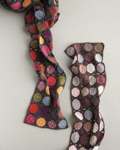 granny square scarf - no pattern!