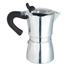 italian six cup espresso coffee maker make the perfect espresso with this italian coffee maker with a clear see through lid and a high quality silicone