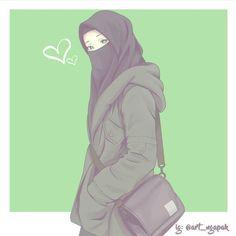 kumpulan anime muslimah bercadar keren - my ely Cute Anime Chibi, Kawaii Anime, Girl Cartoon, Cartoon Art, Anime Art Girl, Anime Girls, Muslim Images, Hijab Drawing, Islamic Cartoon