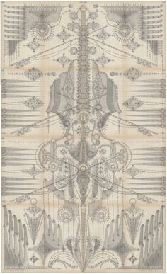 Bowed Vibration  Graphite on antique ledger book pages. 49.5 x 27.5 inches