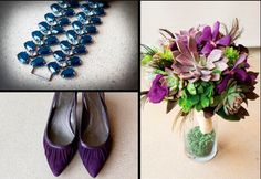 Purples and succulents