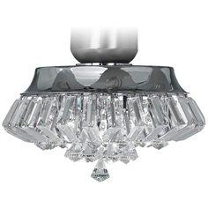 Deco Crystal Chrome Universal Ceiling Fan Light Kit - #V5824 | Lamps Plus