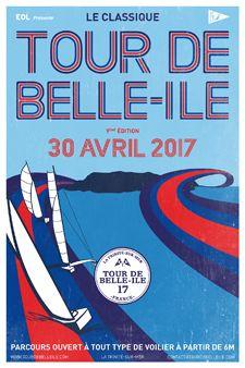 Le Tour de Belle île à la voile 2017  Du Samedi 29 Avril au 1er Mai, Belle île réunira près de 500 bateaux pour son Tour de Belle à Ile à la voile. Une seule et même ligne de départ de 3 kilomètres pour tous, voilà l'essence même du TOUR DE BELLE-ILE. Près de 500 bateaux alignés dans la majestueuse baie de Quiberon !