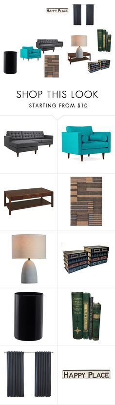 """Gerardo´s Ideal Living Room"" by gerardo01102000 ❤ liked on Polyvore featuring interior, interiors, interior design, home, home decor, interior decorating, Joybird, DutchCrafters, Primitives By Kathy and living room"