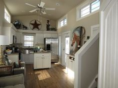 A park model home that would look great with a white picket fence! Just 399 sq ft, it's currently available for sale in Dallas, Texas.