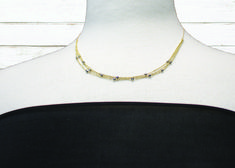 Perfect necklace for a straight line neckline.
