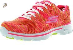 Skechers Womens Go Walk 3 Fashion Sneakers,Hot Pink Lime,6.5 - Skechers sneakers for women (*Amazon Partner-Link)