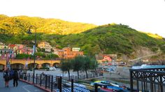 Monterosso al Mare, Cinque Terre, Italy. Join me for #ItalyWomen'sTravel. Hiking trail to Vernazza on the right in the background  http://www.ItalyRetreatForWomen.com