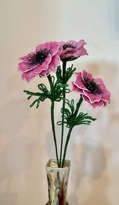 French beaded flower Anemone
