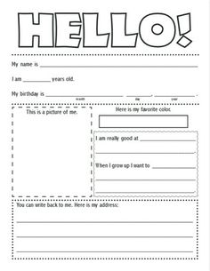 Free Printable Pen Pal Letter Template From Life Your Way.