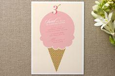 Sweet ice cream invite
