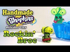 How To Make Shopkins: Rockin' Broc Polymer Clay Tutorial! - YouTube