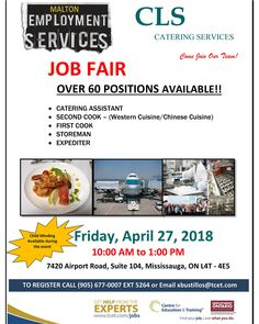 Centre for Education & Training Youth Programs, Job Fair, Catering Services, Education And Training, Job Search, Rsvp, Centre, Career, Friday