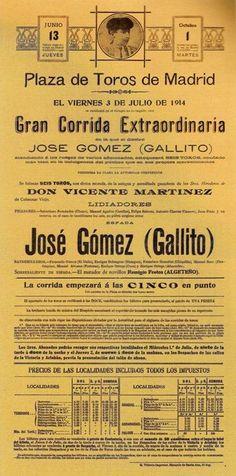 Madrid - 1914. Blogspot Del toro al infinito