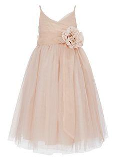 Ballet pink bridesmaid dress - for flower girls?