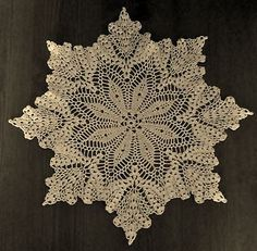 NEW Crochet Doily Pattern-Grandma Jones-Leaves & Fruit | eBay!