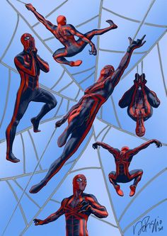 More blue spiderman. Spiderman Suits, Spiderman Art, Amazing Spiderman, Spiderman Poses, Spiderman Costume, Comic Book Characters, Comic Character, Comic Books Art, Comic Art