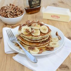 Banana Pancakes {Sweet Pea's Kitchen} My family loved these. You can add peanut butter for the athlete in the home.