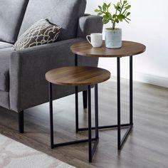 Ikea Living Room Furniture, Table Decor Living Room, Living Room Accents, Living Room Storage, Living Room Modern, Living Room Side Tables, Brown Furniture, Wooden Furniture, Coaster Furniture