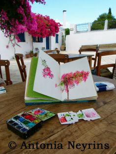 Stage de carnets de voyage à Paros en Grèce - été 2014: 3 dates, tous les détails sur http://antonia-neyrins.blogspot.fr/2014/06/stage-de-carnets-de-voyage-paros-en.html