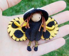 Yellow Ladybug Waldorf Fairy Bug Felt Bendy Doll By: A Curious Twirl   https://www.etsy.com/shop/ACuriousTwirl