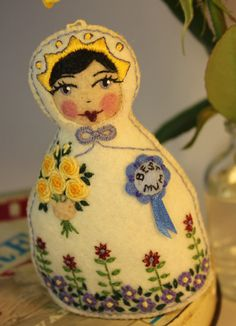 Matryoshka  Mother's Day Doll of Hand by TheSnowQueensGarden, $38.50