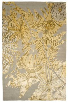 Designer rugs by Jaime Hayon designed exclusively for The Rug Company. Discover imaginative and luxurious Jaime Hayon rugs for your home. Textiles, Textile Patterns, Print Patterns, Rug Company, Interior Rugs, Magic Carpet, Grey And Gold, Carpet Design, Of Wallpaper