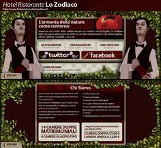 """Ideazione, Progettazione e Sviluppo Sito Statico [url temporaneo] """"http://www.ristorlozodiaco.altervista.org/ (Oppido Lucano - Hotel Ristorante Lo Zodiaco)"""".    Particolare : Home (in alto) , Chi Siamo (in basso)    Il sito è interamente sviluppato in php+css+javascript (jquery)."""