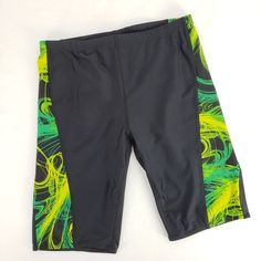 7fb746dbc3 Sporti Jammer Swimsuit Size 36 Competition Swim Bottoms Black Green  Drawstring