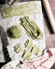 Homemade Peppered Kale Kamut Pasta Dough