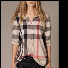 Plaid blouse Super cute plaid shirt brand new with tag Tops Blouses