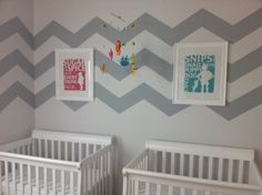 Boy/Girl Twin Nursery, Bright and Cheerful by mkollus