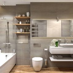 36 + Latest Bathroom Designs and Decorating Ideas - nyamanhome Bathroom Sink Design, Modern Bathroom Decor, Wood Bathroom, Bathroom Renos, Bathroom Colors, Bathroom Interior Design, Small Bathroom, Bathroom Ideas, Lobby Interior