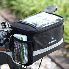 야외 스포츠 자전거 전면 핸들 가방 자전거 전면 바구니 프레임 튜브 가방 맵 전화 물 병 자전거 액세서리