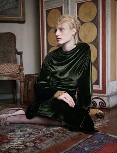 The beautiful Julia Nobis shot by Ben Toms in the most elegant looks of Fall 2013 for AnOther F/W '13. Styled by Katie Schillingford