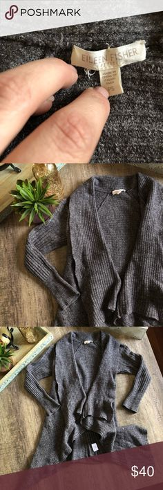 Eileen Fisher Petite Slouch Cardigan Wool cardigan  Size PetiteSmall  Right around the arms and lose around the body In EUC Eileen Fisher Sweaters Cardigans