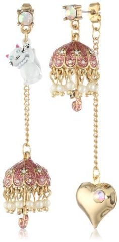 Betsey Johnson Walk in the Park Cat and Umbrella Mismatch Drop Earrings Betsey Johnson,http://www.amazon.com/dp/B00AJVV9AA/ref=cm_sw_r_pi_dp_fQeOrb388BA04D98