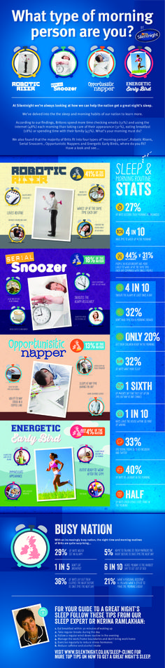 What Type of Morning Person Are You?   #Sleep #Health #infographic