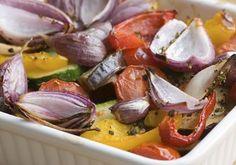 Ovenschaal met geroosterde groenten #avogelrecepten