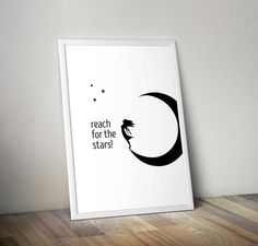 Reach for the stars quotes motivational quotes by OrangeKiteLabs Motivational Quotes, Inspirational Quotes, Star Quotes, Reaching For The Stars, Nursery Decor, Life Quotes, House Design, Wall Art, Home Decor