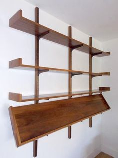 Milo Baughman Wall Shelf with Magazine Rack- Mid century Modern Homes. Beautiful modernista wall shelf in rich brown Walnut wood. Pristine condition and ready to mount! Filing a charge back and keeping the merchandise is considered stealing. | eBay!