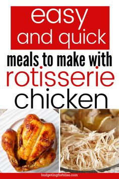 Recipes Using Rotisserie Chicken, Chicken Skillet Recipes, Skillet Meals, Baked Chicken, Leftovers Recipes, Meat Recipes, Cooking Recipes, Healthy Recipes, Quick Meals To Make