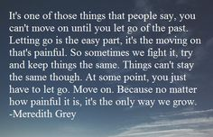 Move on and let go