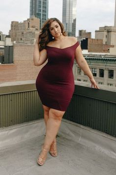 Plus Size Off Shoulder Bodycon Dress - Plus Size Party Dress #plussize