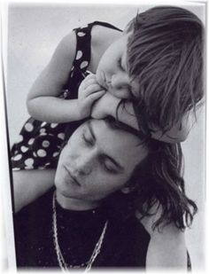Johnny Depp with his daughter Lily-Rose