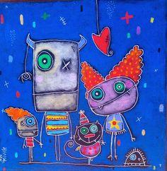 Julie Miville Art For Kids, Crafts For Kids, Arts And Crafts, Monster Co, October Art, Ecole Art, Art Plastique, Art Reproductions, Art Lessons