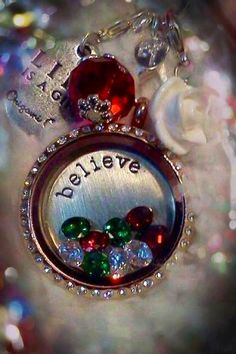 The Holidays are coming... Origami Owl - Christmas {Believe} order now: www.WearIt.origamiowl.com or email: WearIt@email.com