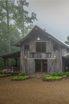 18 Outstanding Rustic Houses What is the most cozy home you have ever lived in? The home where you felt so good and warm that you never wanted to leave? Probably many of us would say that it's rustic house Rustic Barn Homes, Pole Barn Homes, Rustic Home Plans, Rustic Cabins, Pole Barns, Barn House Plans, Barn Plans, Cabin Homes, Log Homes